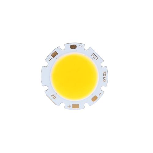 7W Round COB Super Bright LED Chip Light Lamp Bulb Warm White DC16-24V