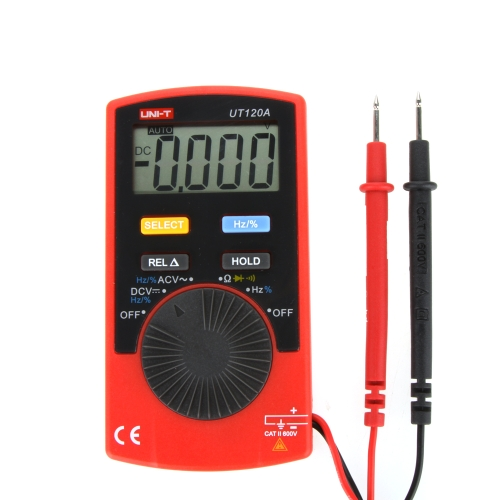 UNI-T UT120A Pocket Size Type Auto-range DMM Digital Multimeter DC / AC Voltage Resistance Frequency Tester