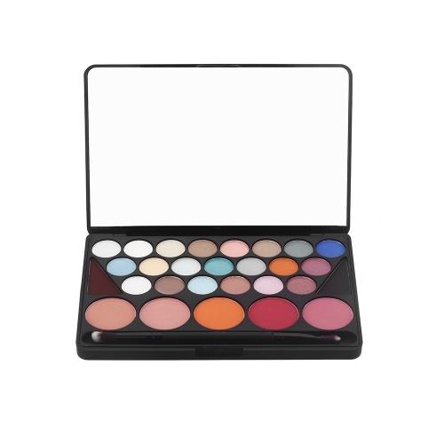 Профессиональный 28 цветов 21 Eyeshadow 5 румяна 2 бровей палитра матовый блеск косметический набор