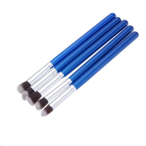 5Pcs Wood Makeup Brush Kit Professional Cosmetic Set Synthetic hair Aluminum Alloy Ferrule