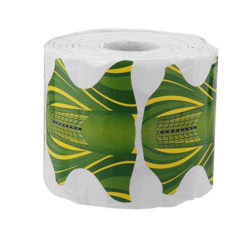 500pcs unha arte acrílico ponta guia Gel extensão esmalte Styling ferramentas Curl Forms para cuidados de unhas