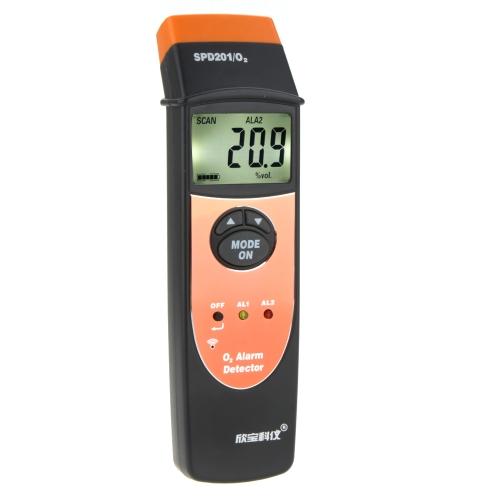 SINPO SPO201 Palm Size Type LCD Backllight 0~25% VOL Oxygen(O2 ) Alarm Detector
