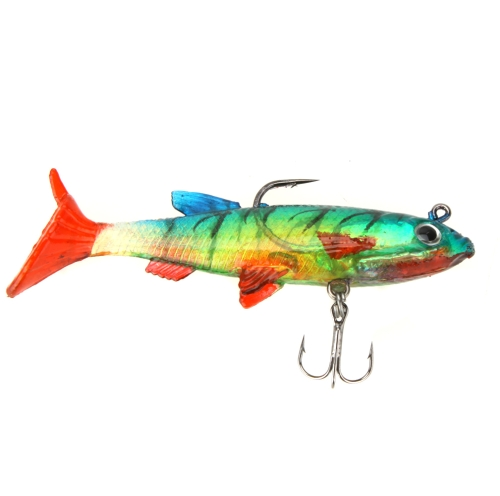 5pcs 8,5 см 14g мягкие приманки свинца голова рыбы приманки бас рыбалка снасти резкое крюк T хвост красочный