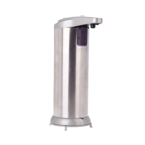 Soap Dispenser Automatic IR Sensor Stainless Steel Liquid Hand Free Sanitizer 280ML