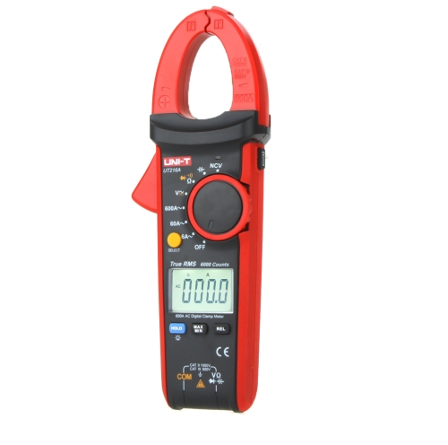 UNI-T UT216A True RMS Digital Clamp mètres Auto gamme w / NCV Capacitance Voltage AC/DC courant alternatif ohms Test