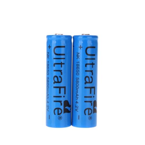UltraFire 2*18650 3.7V Rechargeable Li-ion Battery 5800mAh for LED Flashlight Torch Light