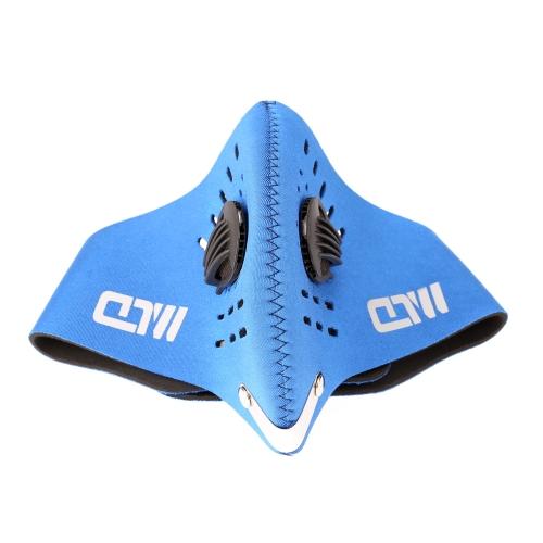 Ciclismo biciclette moto equitazione all'aperto Sport Sci Snowboard carbone attivo filtro protettivo viso maschera termica antivento anti-inquinamento antipolvere bocca-muffola PM2,5