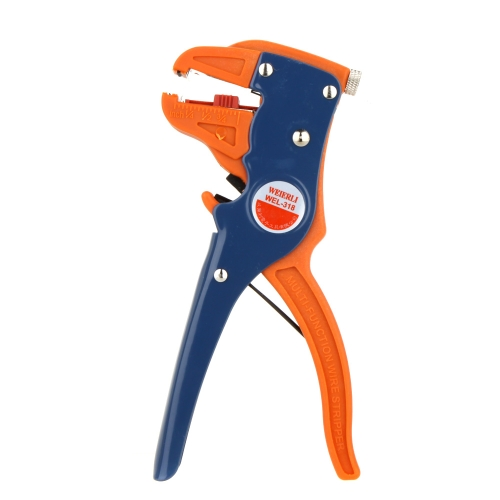 WEL-318 Self-Adjustable 61/2''Multi-function Wire Cable Cutter Stripper Stripping Plier Tool for Single & Multiple Cables 0.5~6mm2