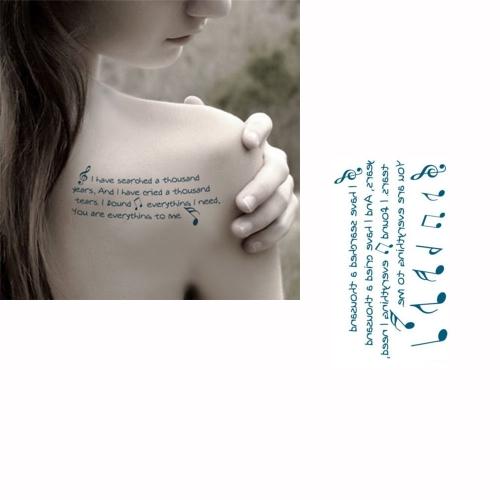 Татуировки наклейки английских букв шаблон Водонепроницаемый Временные татуировки бумаги боди-арт