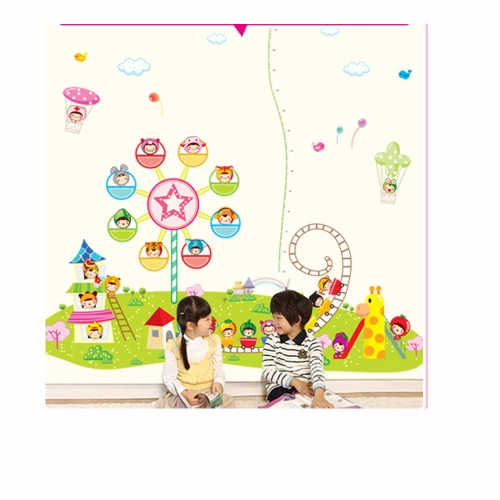 Children Playground 3pcs Wall Stickers Art Decals Mural DIY Wallpaper for Room Decal 60 * 90cm