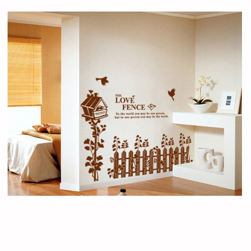 Fence Nest Wall Stickers Art Decals Mural DIY Wallpaper for Room Decal 60 * 90cm