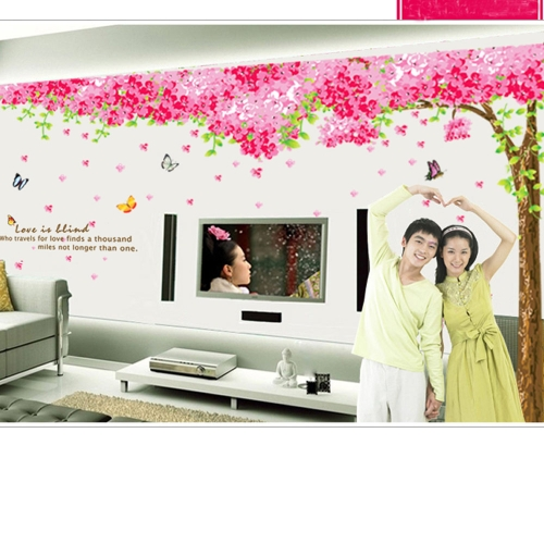 Romantic Cherry Removable 3pcs Wall Stickers Art Decals Mural DIY Wallpaper for Room Decal 60 * 90cm