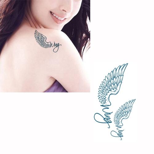 Татуиров крылья шаблон Водонепроницаемый Временные татуировки тела искусство бумаги