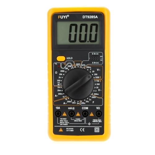 New FUYI DT9205A Digital Multimeter w/Capacitance test