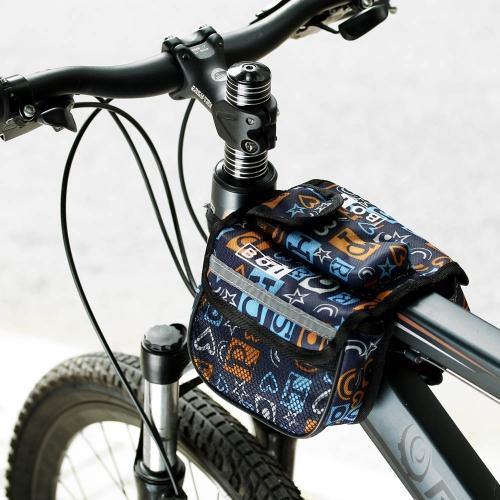 BOI Велоспорт велосипед велосипедов передней верхней трубы рамы Паньер двойной мешок мешок