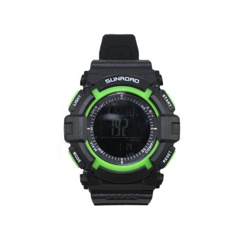 SUNROAD FR822B 3ATM impermeabile l'altimetro bussola cronometro barometro pedometro Sport Outdoor orologio multifunzione
