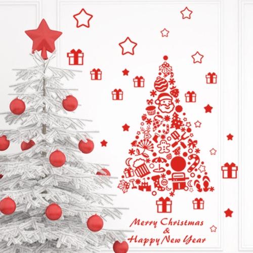 Merry Christmas Removable Naklejki na ścianę Art Decals Mural Tapeta na Pulpit Decy Pokój 60 * 67cm