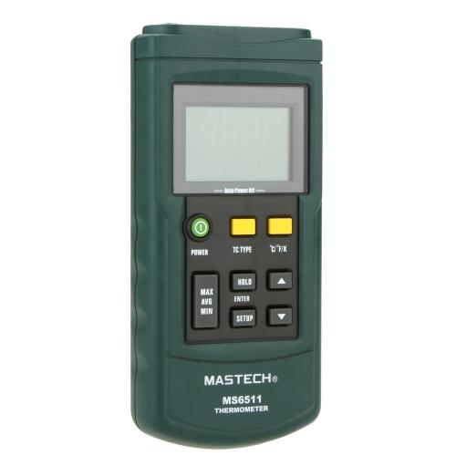 Mastech MS6511 Digital Thermometer Single-channel Temperature Tester for K/J/T/E Thermocouple