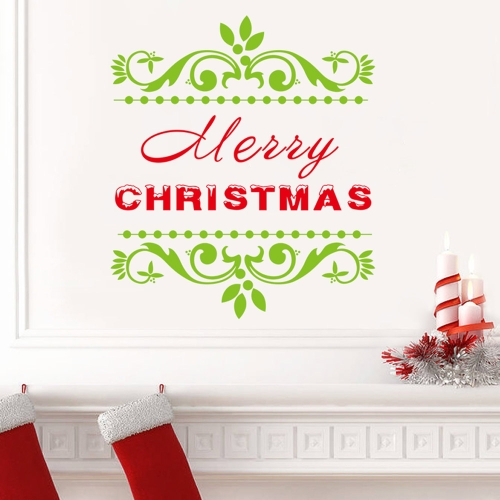 Merry Christmas Removable Wall Stickers Art Decals Mural DIY Wallpaper for Room Decal 42 * 47cm