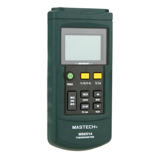 MASTECH MS6514 thermomètre numérique bicanal sonde Thermocouple K/J/T/E/R/S/N w/USB Interface