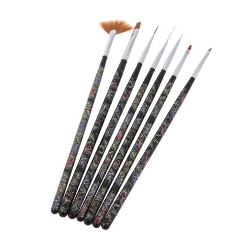 7pcs Manicura Diseño de uñas Pincel para Pintar Uñas de Arte ...