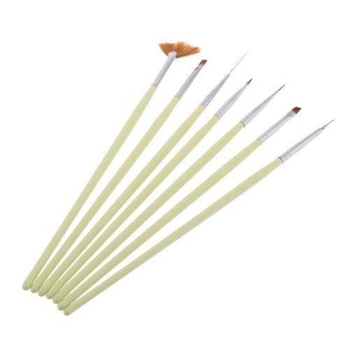 7pcs Nail Art Tips Design Polish Painting Dotting Pen Tools Brush Makeup Set Kit