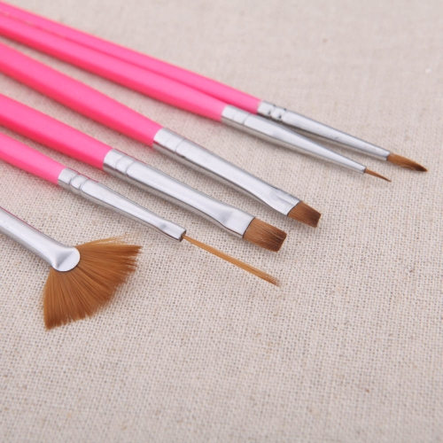 6PCS Nail Art Design Pen Set Painting Dotting Brush Kit Tool