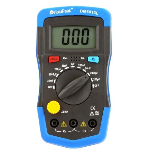 TOMTOP DM6013L Handheld  condensatore Digitale  tester di capacità w / LCD retroilluminato