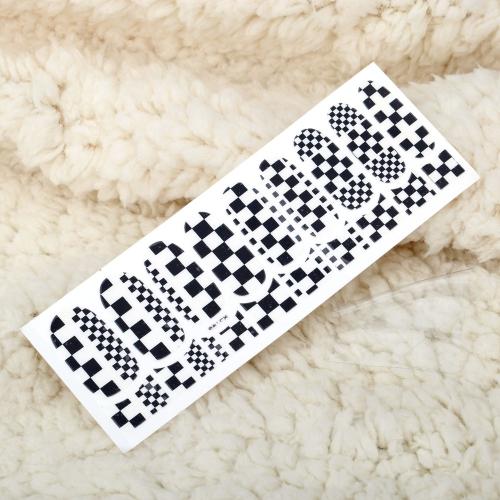 Ein Blatt Mix Style 3D Glitter Nail Art Sticker Patch Wraps Finger Zehen Tipps Dekoration