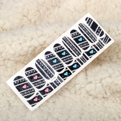 Один лист смесь стиля 3D блеск ногтей наклейки патч обертывания пальцы ног советы украшения