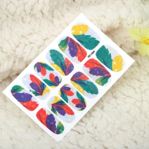 Один лист смесь стиля DIY ногтей наклейки патч обертывания пальцев Советы украшения