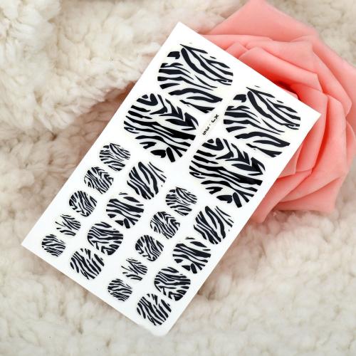 Ein Blatt Mix Style DIY Nail Art Sticker Patch Wraps Finger Tipps Dekoration