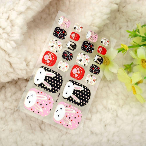 One Sheet Mix Style DIY Nail Art Stickers Patch Wraps Fingers Tips Decoration