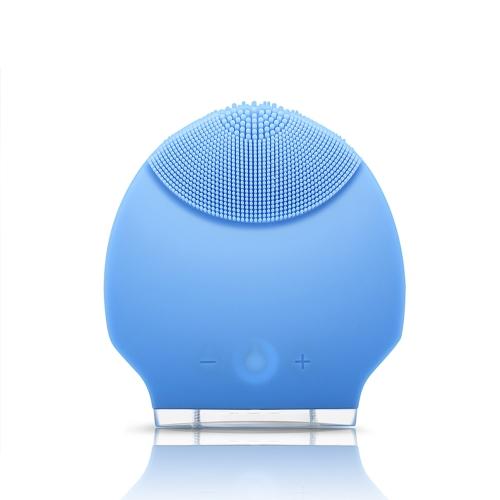 Силиконовые личной перезаряжаемые мини ультразвуковой красоты инструмента супер лица чистого лица Уход за голубой