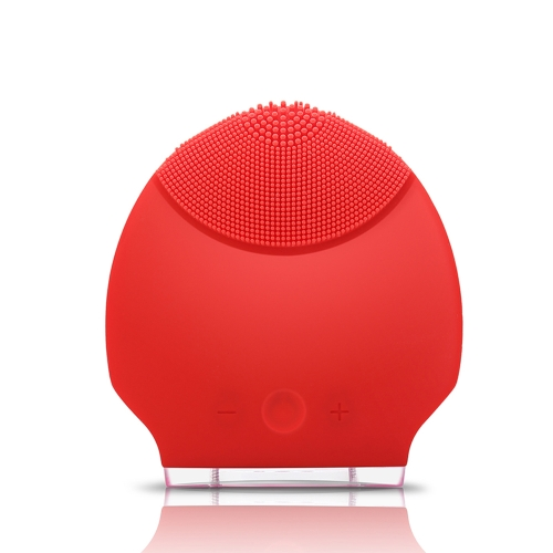 Silikon persönliche wiederaufladbare Mini Ultraschall Beauty Instrument Super Gesichts sauberer Face Care rot
