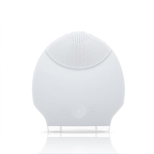 Silikon persönliche wiederaufladbare Mini Ultraschall Beauty Instrument Super Gesichts sauberer Gesicht Care weiß