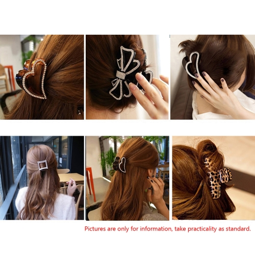 12pcs моды пластиковые красочные Парикмахерский инструмент бабочка волос коготь салон секции клип зажимы