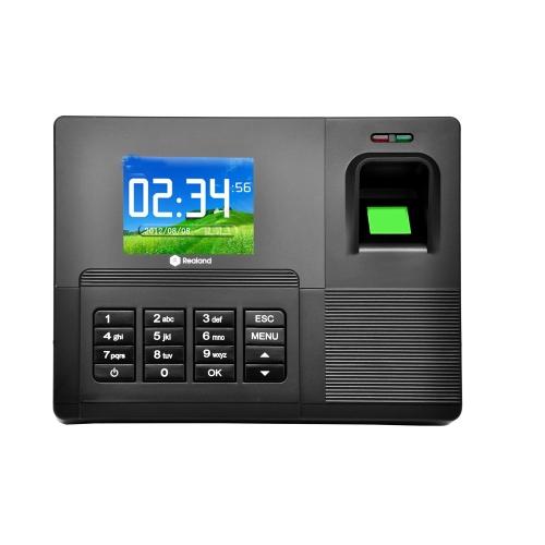 РеальнойИ 2.8 «TFT ЖК-дисплей биометрические посещаемости Machine ID карт чтения USB DC12V/1A часы времени рекордер сотрудник проверка в A-C030