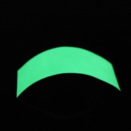 Prämie leuchtend grünes Leuchten in der dunklen Band Aufkleber Planfilm für Warnung Etiketten 3