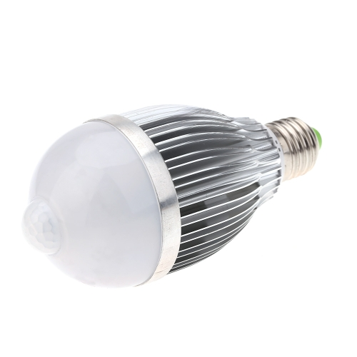 E27 9W LED Infrared PIR Human Motion & Light Sensor Auto Detection Bulb Lamp 85-265V