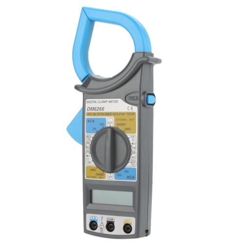 DM6266 Digital Clamp Meter Electronic Tester Tools Ammeter Voltmeter Ohmmeter Insulation Tester w/ Data Hold