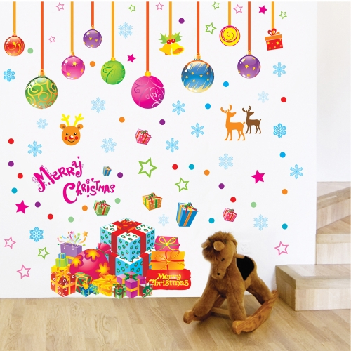 Christmas Decoration Removable Wall Stickers Art Decals Mural DIY Wallpaper for Room Decal 50 * 70cm