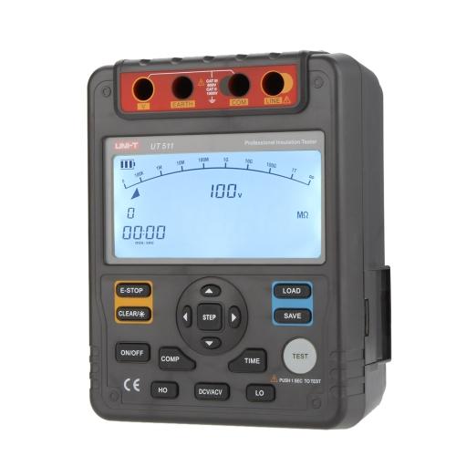 UNI-T UT511 Insulation Resistance Testers Megohmmeter Low Ohmmeter Voltmeter Auto Range 1000V 10GΩ