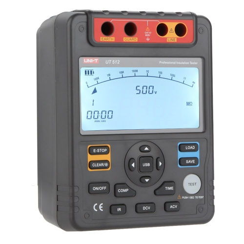 UNI-T UT512 Insulation Resistance Testers Voltmeter Auto Range 2500V 100GΩ w/USB Interface