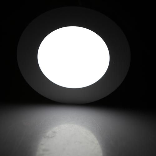 4W redondo LED empotrado techo luz del Panel abajo lámpara Ultra brillante delgada para Living comedor baño dormitorio cocina AC85-265V