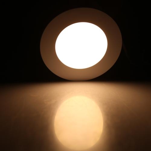4W, круглые светодиодные встраиваемые потолочные свет панели вниз лампа ультра тонкий яркий для гостиная комната спальня кухня AC85-265V