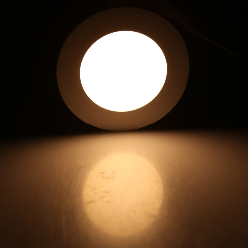 6W Round LED Recessed Ceiling Panel Light Down Lamp Ultra Thin Bright for Living Room Bathroom Bedroom Kitchen AC85-265V