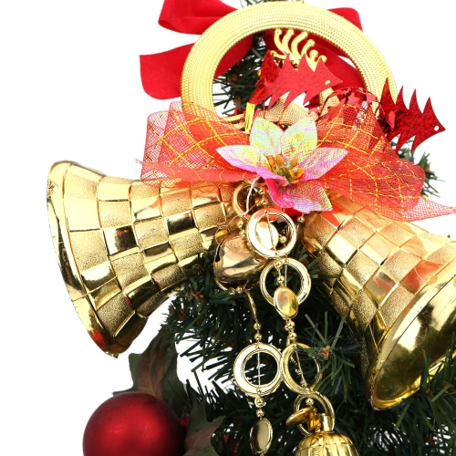 5 x Christmas Bell Tree Baubles Licht Dekoration Ornamente Glitter Glocken