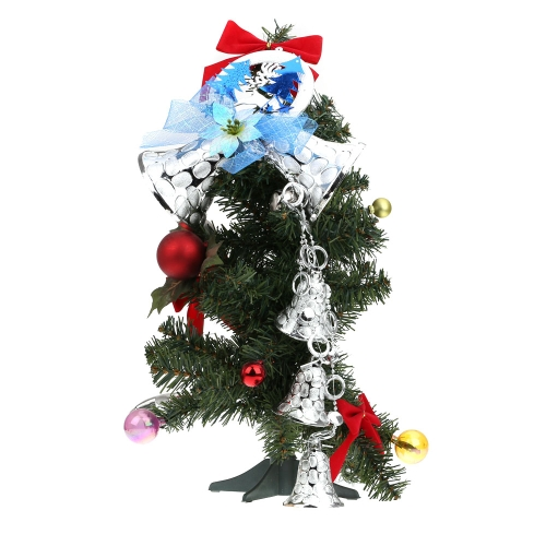 5pcs Christmas Bell Tree Baubles Light Decoration Ornaments Glitter Bells