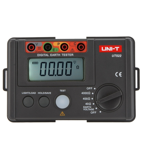 UNI-T UT-522 Digital Earth Tester Earth Ground Insulation Resistance Meter Ohmmeter Voltmeter 4000Ω